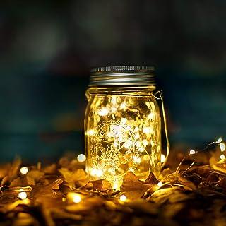 Luci Solari Acciaio Inossidabile Impermeabile Lampada Solare con 10 LED per Decorazioni Natale, la decorazione del Patio, ...