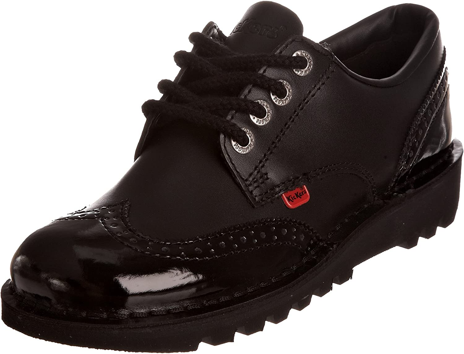 Kickers KICK LO BROGUE Ladies Patent Leather shoes Black
