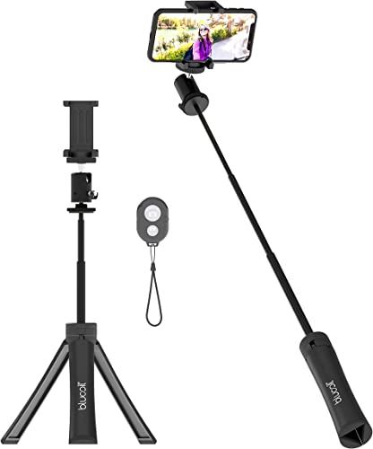 popular Blucoil Extendable Selfie Stick with Bluetooth Remote Control, outlet sale 33-FT Wireless Range, online sale Water Resistant Tripod Stand, and 360° Rotatable Ball Head for Android and iOS Devices online