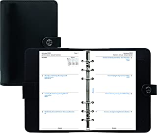 $70 » Filofax The Original Organizer, Personal Size, Black - Leather, Six Rings, Week-to-View Calendar Diary, Multilingual, 2022...