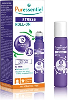 Puressentiel Rest & Relax Stress Roll on 5 ml - To help decrease tension and restore the mind during stressful times - 10...