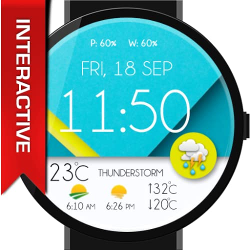 Pure Material Design Interactive Watch Face