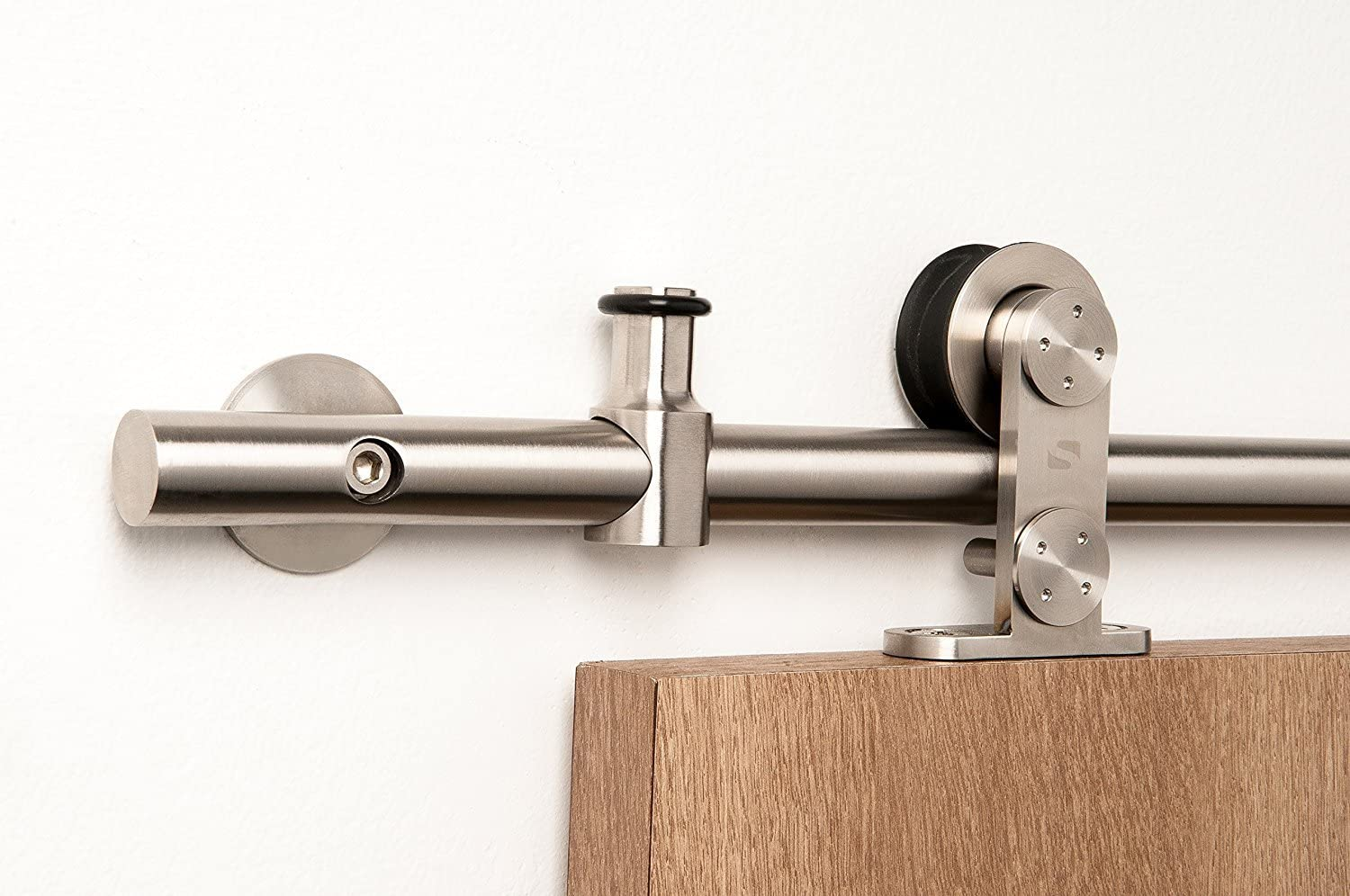 STRONGAR Contemporary Stainless Steel Sliding Hardware Barn Max 85% OFF Quantity limited Door