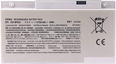 FLIW VGP-BPS33 Replacement Battery Compatible with Sony Vaio Svt-14 Svt-15 T14 T15 Touchscreen Ultrabooks VAIO SVT14127CG SVT14126CXS SVT14127CH SVT14128CC 11.4V 3760mAh 43Wh