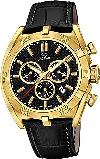 JAGUAR - Reloj Modelo J858/3 de la colección Executive, Caja de 45,8 mm Correa de Piel Negro para Caballero