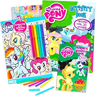 My Little Pony Coloring and Activity Book Set with Stickers -- 3 MLP Books Filled with Games, Puzzles, Stickers and Activi...
