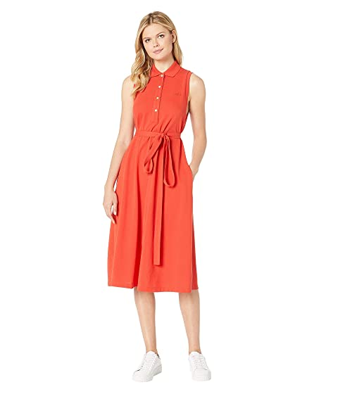 0b267181e2407c Lacoste Sleeveless Belted Pique Polo Dress at Zappos.com
