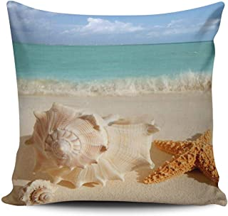 XIAFA Sea Shell Seashell Clam Beach Home Decoration Pillowcase 18X18 inch Square Stylish Design Throw Pillow Case Cushion Cover Double Sided Printed (Set of 1)