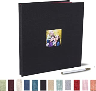 آلبوم عکس چسبنده آلبوم خود چسب آلبوم 40 صفحات دو طرفه مغناطیسی پارچه Hardcover DIY آلبوم عکس طول 11 x عرض 10.6 (اینچ) با قلم فلزی (سیاه)