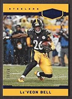 2018 Panini Plates & Patches Football Blue #165 Le'Veon Bell 30/50 Pittsburgh Steelers