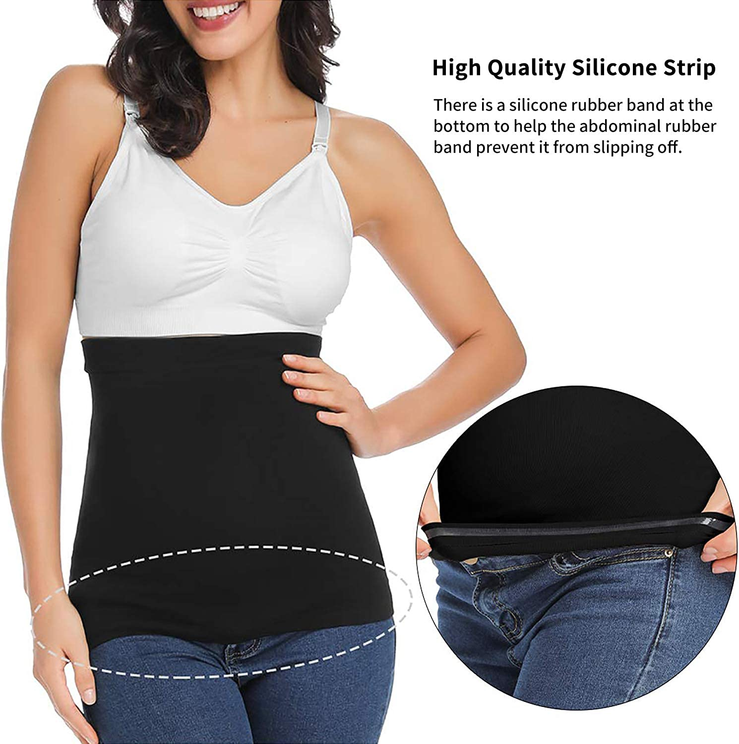 Seamless Belly Band for Pregnancy with Pregnancy Support Belly Belt Bands