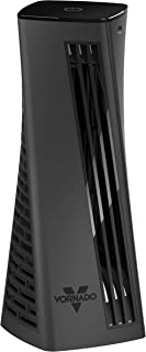 Vornado HELIX1 Personal Tower Fan with 3 Speed Settings, Touch Controls, Small Footprint, Black