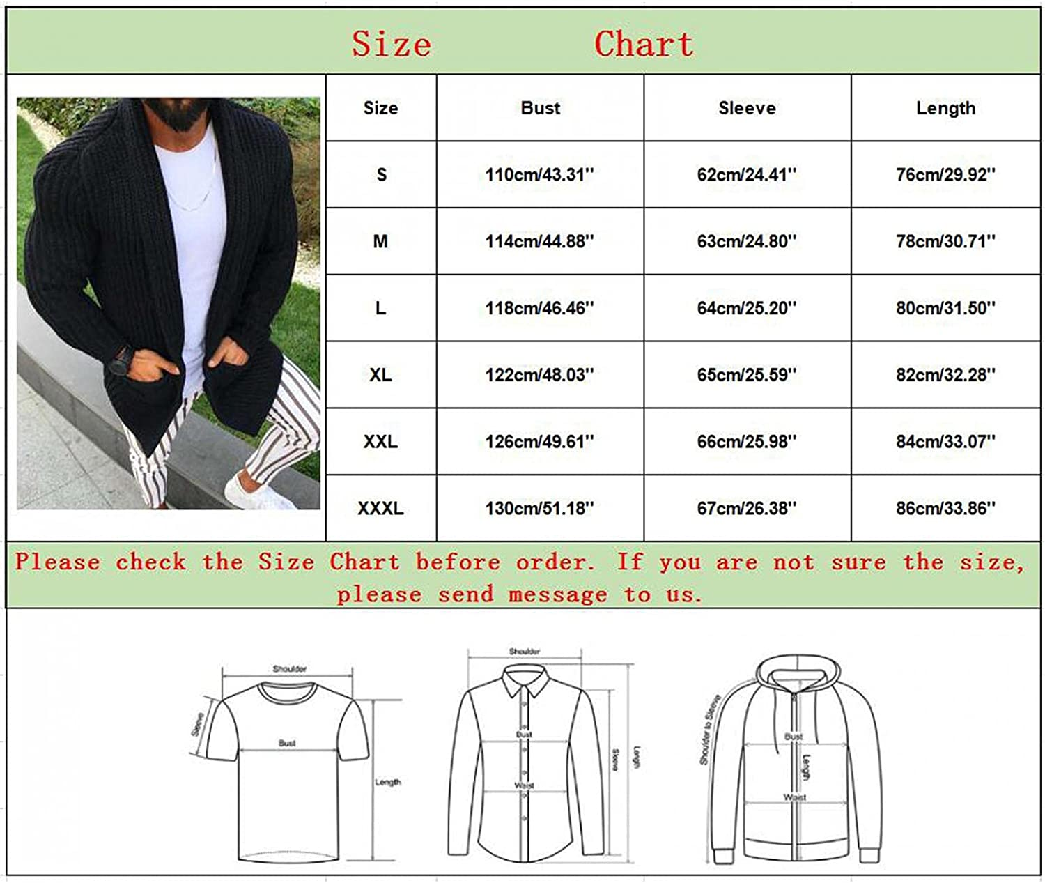 Mens Cardigan, Mens Cardigan Sweater Shawl Collar Open Front Long Sleeve Knit Slim Fit Vintage Coat Outwear with Pockets