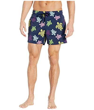 Vilebrequin Round Turtles Moorise Swim Trunks (Blue Marine) Men