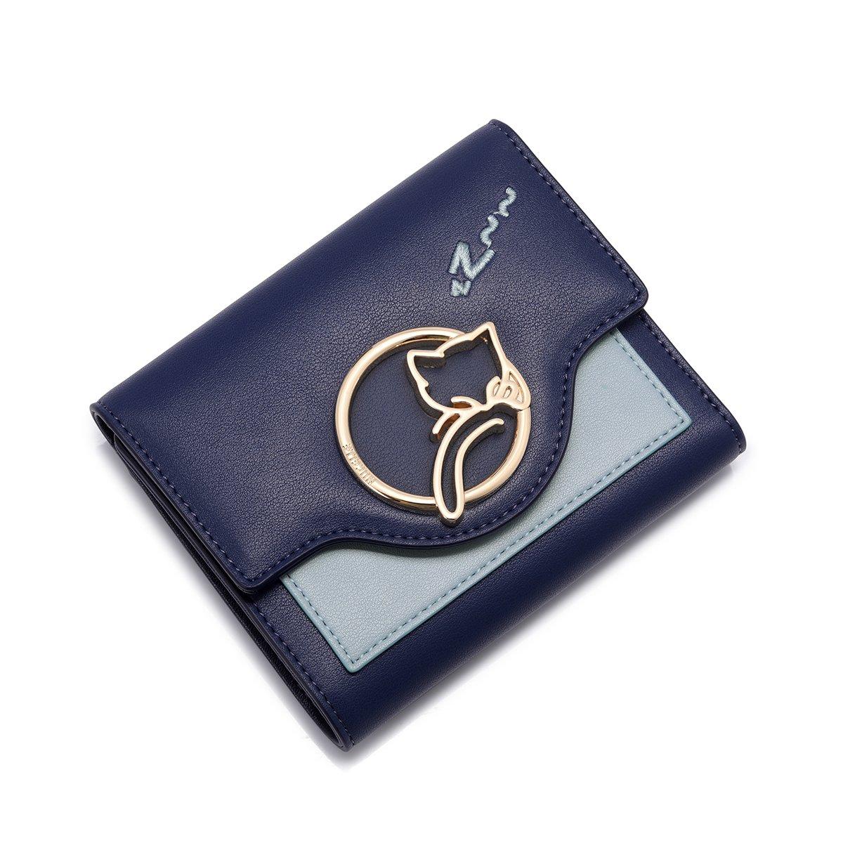NUCELLEニュージーランド2018年新しい財布女性の猫の金属の甘い女性の短い小さな新鮮な財布のファッションカードパッケージ(王Guanlan)