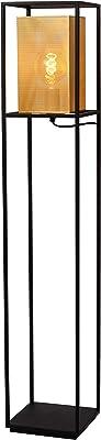Lucide 21722/01/30 Lampadaire, Métal, 40 W, Noir, Or Mat/Laiton