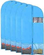 Kernorv Breathable Dust-Proof Garment Bags, Set of 5 Environmental Zipper Garment Bags for Dance Costumes, 51