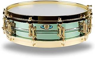 Ludwig LW0414CP 4 X 14 Inches Carl Palmer VENUS Signature Green Brass Snare Drum