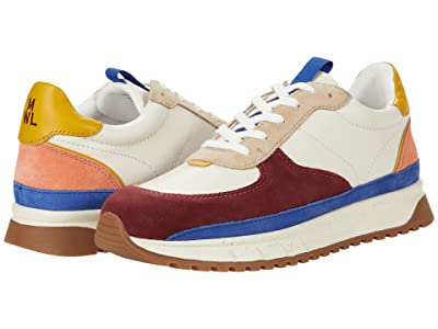 Madewell Kickoff Trainer Sneakers in Colorblock Leather and Suede