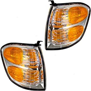 Driver and Passenger Park Signal Corner Marker Lights Lamps Replacement for Toyota SUV Pickup Truck 815200C020 815100C020