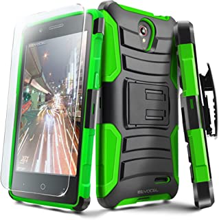 ZTE Maven 2 / ZTE Prestige/Avid Plus/Sonata 3 Case, Evocel [Generation Series] Belt Clip Holster, Kickstand, HD Screen Protector, Dual Layer for ZTE Z833 / Z832 / Z828 / N9132, Green