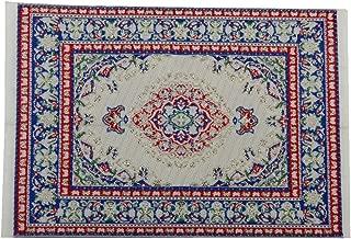 Dollhouse Miniature Decoration Floor Rug Carpet Multicolored 14 x 10 cm