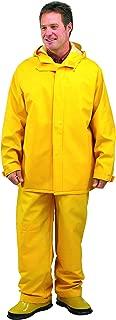 Galeton 7953-XXXL-YW 7953 Repel Rainwear 0.50 mm PVC 2-Layer Rain Suit, Yellow, 3X-Large