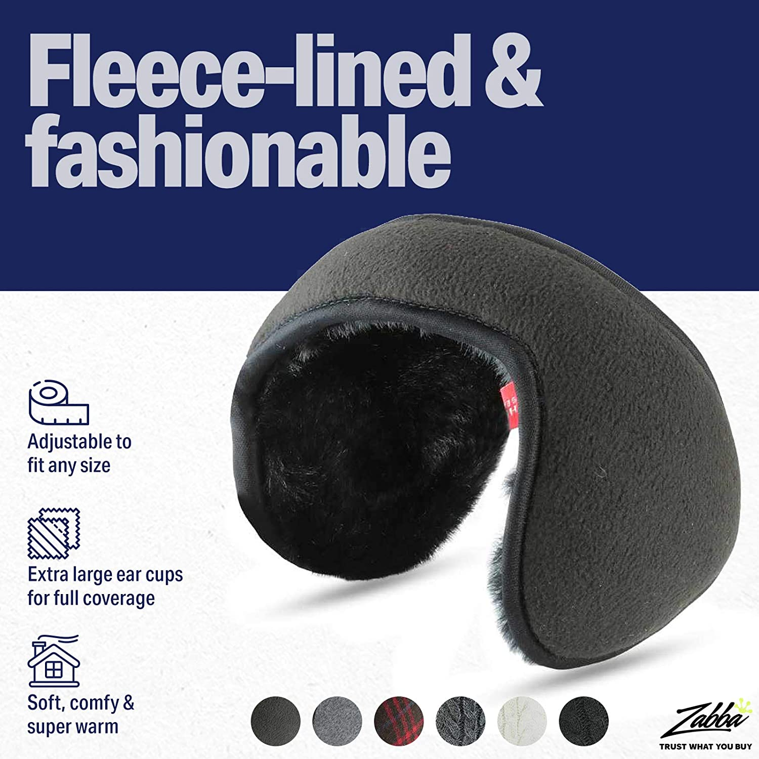 Warm /& Cozy Comfy Fashionable Luther Pike Seattle Unisex Winter Ear Muffs