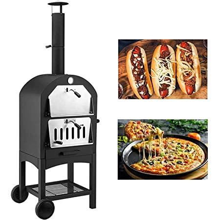 GMG Green Mountain Grill Wood Fired Pizza Oven Plus Free BBQ//Grilling Mats Pellet Pizza Oven and Free Grilling MATS GMG-4023 Wood Fire BBQ