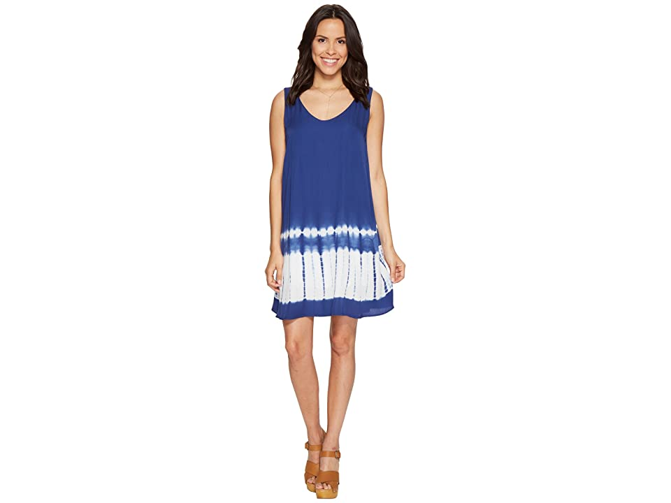 BB Dakota Lennon Tie-Dye Dress (Indigo) Women