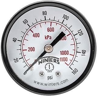 Winters PEM Series Steel Dual Scale Economy Pressure Gauge, 0-160 psi/kpa, 2