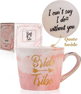 Bridesmaid Gifts Coffee Mug, Maid of Honor & Bridesmaid Proposal Gifts, Bride Tribe, Bridal Party Gifts, Wedding Gifts for Bridesmaids, Will you be my bridesmaid? I can't say I do without you, Onebttl