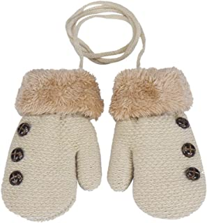 Lishy 2017 New Baby Boys Girls Leaf Gloves Warm Soft Mittens Gloves