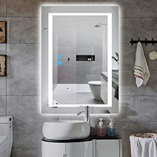 PexFix Wall Mounted LED Mirrors, Modern LED Lighted Bathroom Mirror,LED Backlit 32 x 24 inch Bathroom Vanity Mirror, Defogger & Dimmable Touch Switch, Polished Edge &Frameless, Vertical&Horizontal