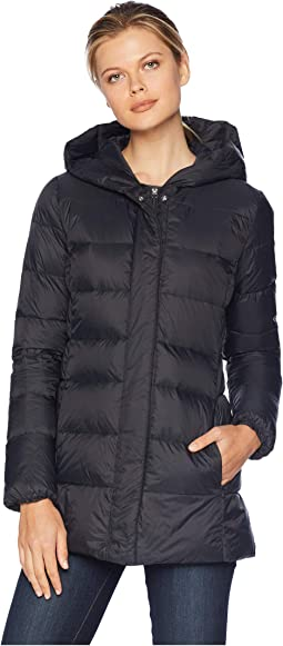 """29"""" Shawl Hood Packable Jacket with Back Waist Elastic Detail"""