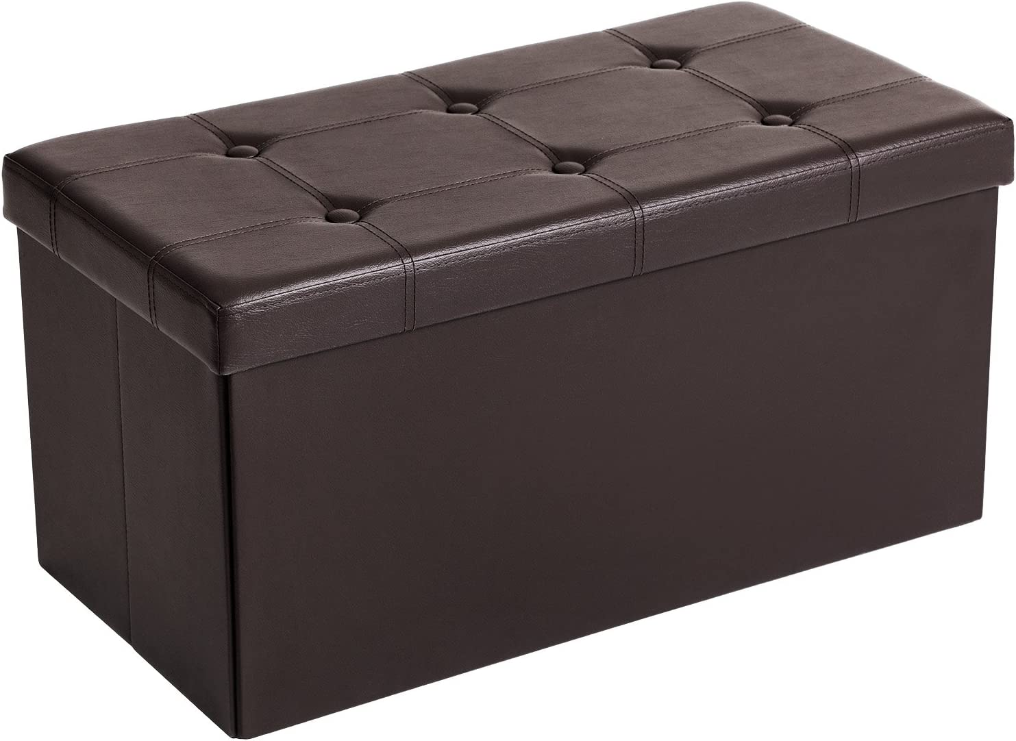 Recommendation SONGMICS 30 Inches Attention brand Faux Leather S Ottoman Storage Bench Folding