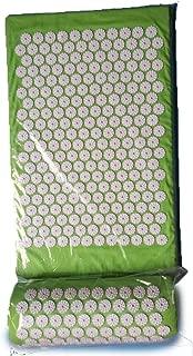 Acupressure Mat Head Neck Back Foot Massage Cushion Pillow for Yoga Spike Mat Anti-Stress Acupuncture Needle Massager,L Green Mat Pillow