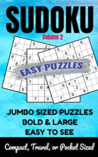 Easy Sudoku Puzzle: Large Print Puzzles with Easy to Read Solutions - Volume 2: One Puzzle per Page - Travel Pocket Or Com...
