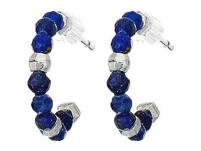Kendra Scott Scarlet Huggie Earrings (Rhodium Blue Lapis) Earring