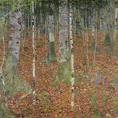 Artland Alte Meister Premium Wandbild Gustav Klimt Bilder Poster 30 x 30 cm Birkenwald Kunstdruck Wandposter Jugendstil R1ZN