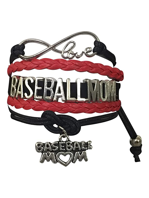 Infinity Collection Baseball Mom Bracelet- Baseball Jewelry for Moms for Baseball Player Moms