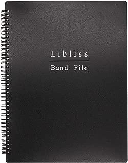 楽譜ファイル バンドファイル A4 60ページ (ブラック)