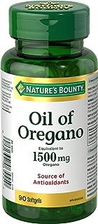 Nature's Bounty Oil of Oregano 1500 mg 90 Liquid Softgels (packaging may vary)