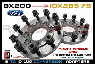 Tuning_Store by 2PC Front 8x200 to 10 Lug SEMI Wheels ADAPTERS 3/4