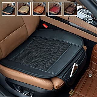 Suninbox Car Seat Cushion,Black Car Seat Covers [Bamboo Charcoal] Universal Bottom Seat Covers for Cars Breathable Comfortable Car Seat Protector[1 Pack Front Seats Only]