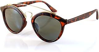 FBL Unisex Clubround Double Bridge Sunglasses Mirrored 45mm Lens A007