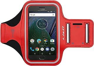 J&D Compatible para Motorola Moto G5 Plus/Moto G6 / Moto G6 Plus/Motorola Moto G8 Power Brazalete Deportivo para Correr, Ranura para Llaves, Conexión con Auriculares Mientras Ejercicios y Carreras
