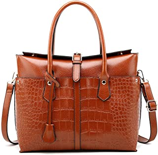 Pahajim Womens PU Leather Crocodile Handbags Top-Handle Satchel Bags Purses and Handbags for Women