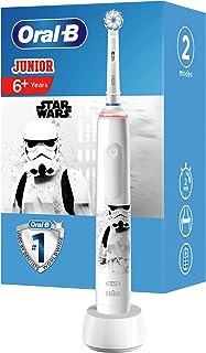 Oral-B Junior Star Wars Elektrische tandenborstel voor kinderen vanaf 6 jaar, 360°-drukcontrole, zachte borstelharen, 2 po...