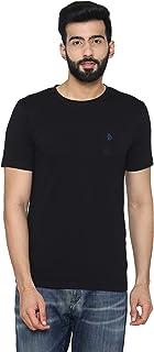Men's Plain Half- Sleeve Casual T-Shirt for Summer - Black